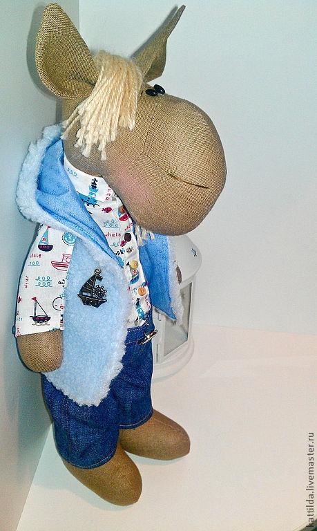 Игрушки животные, ручной работы. Ярмарка Мастеров - ручная работа. Купить Конь!. Handmade. Голубой, текстильные игрушки, акрил, хлопок