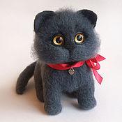 Мягкие игрушки ручной работы. Ярмарка Мастеров - ручная работа Британский котик игрушка из войлока, шерсти. Handmade.