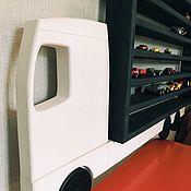 Для дома и интерьера handmade. Livemaster - original item Shelf garage for cars made of solid cedar KAMAZ. Handmade.