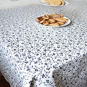 Для дома и интерьера ручной работы. Ярмарка Мастеров - ручная работа Скатерть Цветы Барвинка. Handmade.