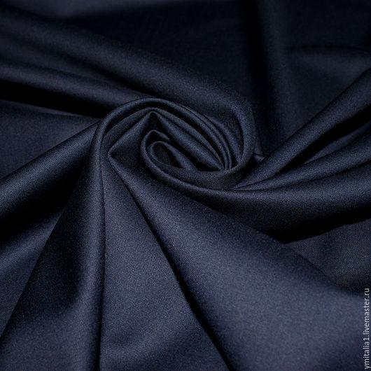 Шитье ручной работы. Ярмарка Мастеров - ручная работа. Купить Шерсть плательно-костюмная   Super 130  темно-синяя ARMANI. Handmade.