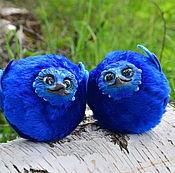 Куклы и игрушки ручной работы. Ярмарка Мастеров - ручная работа Синии птички Счастья (брелок,шароптичка, игрушка). Handmade.