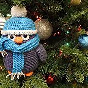 Куклы и игрушки ручной работы. Ярмарка Мастеров - ручная работа Пингвин Пухляш вязаный. Handmade.