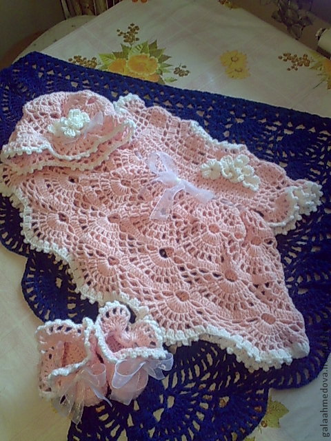 Fishnet set, baby dress,handmade baby dress, knitted set,clothes for girls, newborn, womens dress,clothes for baby,christening set, baptism set