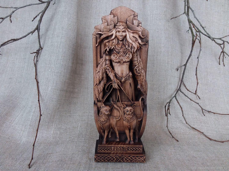 Freya Norse goddess statue Goddess statue Freya Goddess freya norse statue Pagan goddess statue Freya wooden figure