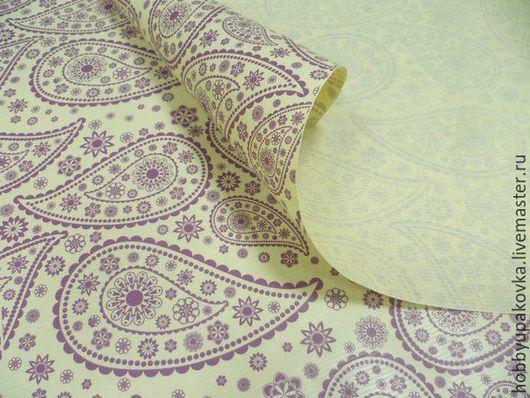 Упаковка ручной работы. Ярмарка Мастеров - ручная работа. Купить Крафт-бумага(восточный огурец) фиолетовая упаковочная 50х70 см. Handmade.