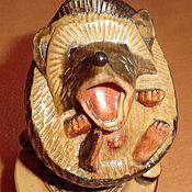 handmade. Livemaster - original item Hedgehog of wood carving. Sculpture. Handmade.