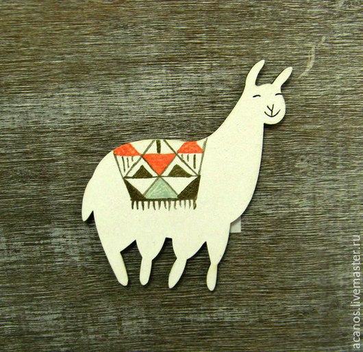 Броши ручной работы. Ярмарка Мастеров - ручная работа. Купить брошка-лама. Handmade. Разноцветный, брошка, брошка-лама
