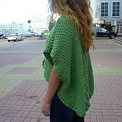Одежда ручной работы. Ярмарка Мастеров - ручная работа Пуловер-пончо. Handmade.