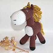 Лошадка, вязаная игрушка,(лошадь-игрушка,конь),амигуруми