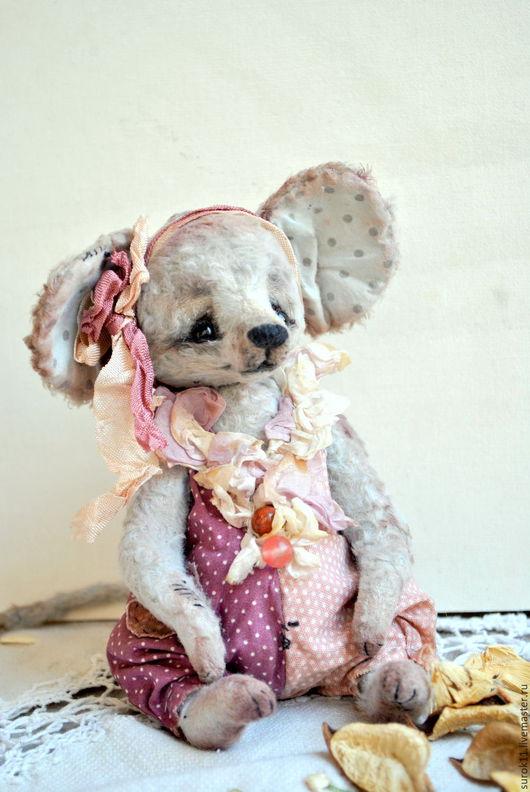 Мишки Тедди ручной работы. Ярмарка Мастеров - ручная работа. Купить Шарлотта. Handmade. Серый, мышонок, глаза стеклянные