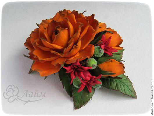 заколка для волос с цветами, цветочное украшение для волос