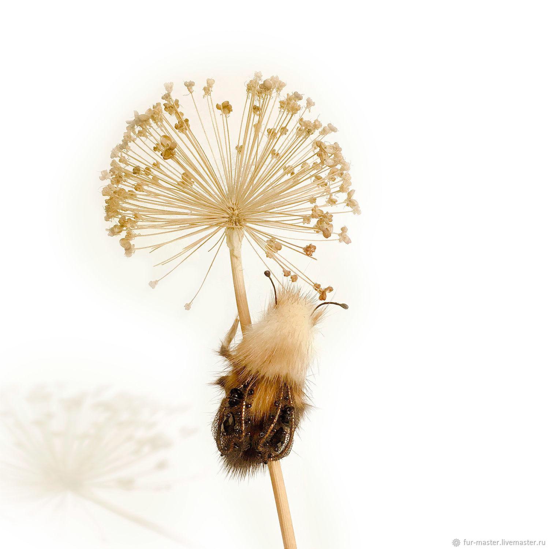 «Большой Королевский Пчёл», фантазийная брошь-насекомое, Брошь-булавка, Москва,  Фото №1