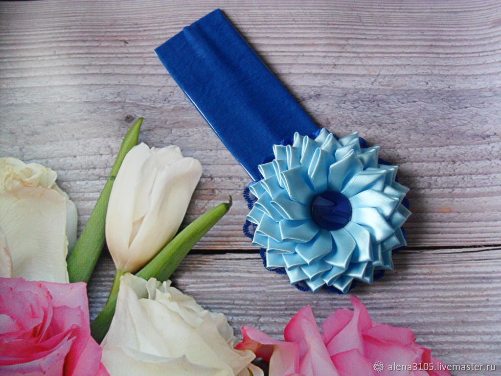Headband hair 'Blue flower', Bandage, Bogotol,  Фото №1