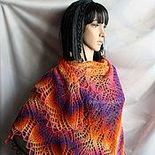 Аксессуары handmade. Livemaster - original item Pure wool shawl, the colour of the