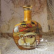 Посуда ручной работы. Ярмарка Мастеров - ручная работа Бутылка Вечный напиток, декупаж. Handmade.