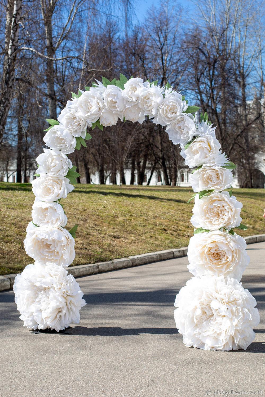 Свадебные цветы ручной работы. Ярмарка Мастеров - ручная работа. Купить Цветочная арка. Handmade. Свадебный декор, выездная регистрация