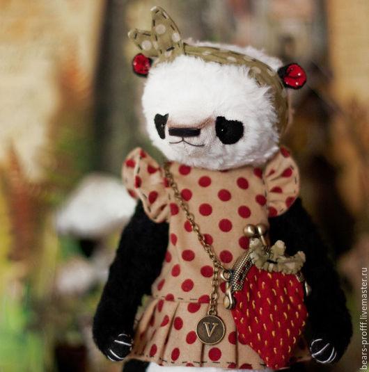 Мишки Тедди ручной работы. Ярмарка Мастеров - ручная работа. Купить Крошка Vivienne. Handmade. Мишка, панда, вискоза италия