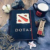 Канцелярские товары handmade. Livemaster - original item Dota 2 Wooden notebook / Sketchbook. Handmade.