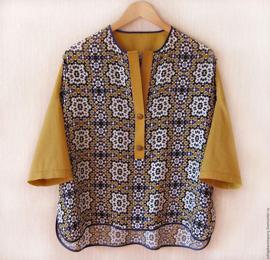 Блузки ручной работы. Ярмарка Мастеров - ручная работа. Купить Рубашка Восток color. Handmade. Комбинированный, восточный орнамент, батист