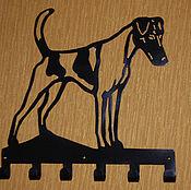 Для домашних животных, ручной работы. Ярмарка Мастеров - ручная работа Фокстерьер гладкошерстный - вешалка. Handmade.