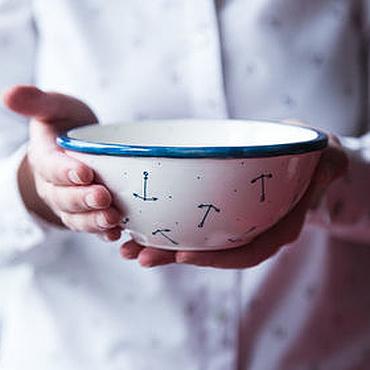 Посуда ручной работы. Ярмарка Мастеров - ручная работа Мысли о море... Пиала ручной работы, керамика. Handmade.