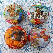 Christmas decorations handmade. Livemaster - original item Christmas decorations made of papier-mache