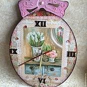 Для дома и интерьера ручной работы. Ярмарка Мастеров - ручная работа Часы девичьи. Handmade.