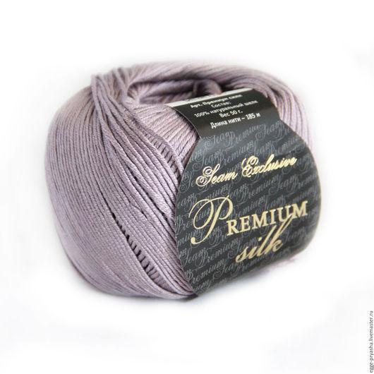 Пряжа для ручного вязания Seam Premium Silk Цвет 0022 пряжа, пряжа для вязания, пряжа для ручного вязания, пряжа в мотках, пряжа шелк, шелковая пряжа, шелк 100%, шелк натуральный
