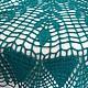 Текстиль, ковры ручной работы. Заказать Мини-скатерть Цвета Морской Волны. Марина. Ярмарка Мастеров. Тёмно-бирюзовый