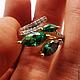 Кольца ручной работы. Золотое бриллиантовое кольцо Хризолиты 585 пробы. GOLDJEWELRY-BK. Ярмарка Мастеров. Бриллианты, золотое украшение