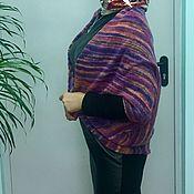 """Одежда ручной работы. Ярмарка Мастеров - ручная работа Кардиган кокон вязаный  """"Осенняя радуга"""". Handmade."""