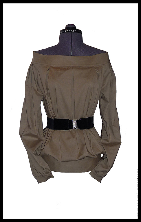 Блузки ручной работы. Ярмарка Мастеров - ручная работа. Купить Блузка. Handmade. Коричневый, блузка оригинальная, блузка кофе с молоком