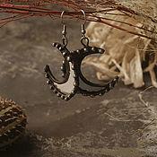 Украшения handmade. Livemaster - original item Moon Mirror Earrings (e-003-11). Handmade.
