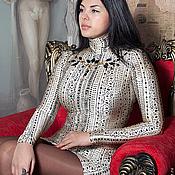 Одежда ручной работы. Ярмарка Мастеров - ручная работа Платье из трикотажа Грация. Handmade.