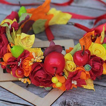 Украшения ручной работы. Ярмарка Мастеров - ручная работа Осенний венок, осенний ободок, веночек осенний, ободок осенний. Handmade.