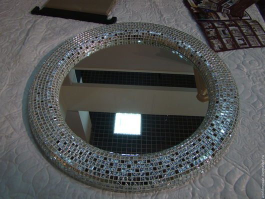 Зеркала ручной работы. Ярмарка Мастеров - ручная работа. Купить Зеркало в мозаичной раме, серебряный объем. Handmade. Серебряный, серебро