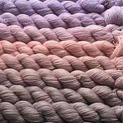 Материалы для творчества ручной работы. Ярмарка Мастеров - ручная работа Градиент. 80% кашемир, 20% шелк- Сиренево-Розово-Серебристый градиент.. Handmade.