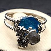 Украшения handmade. Livemaster - original item Ring with Topaz and enamel silver 925. Handmade.
