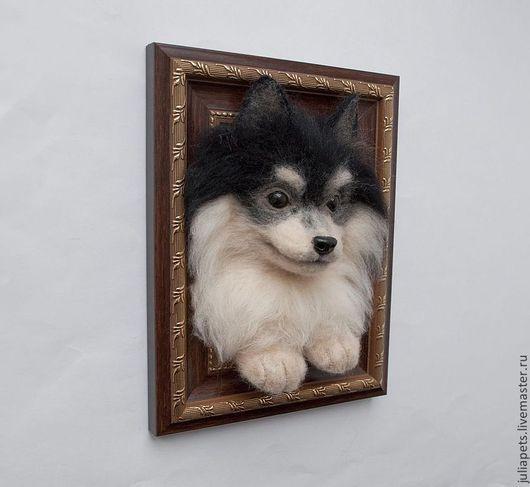Интерьерное украшение Панно объемное Собака шпиц