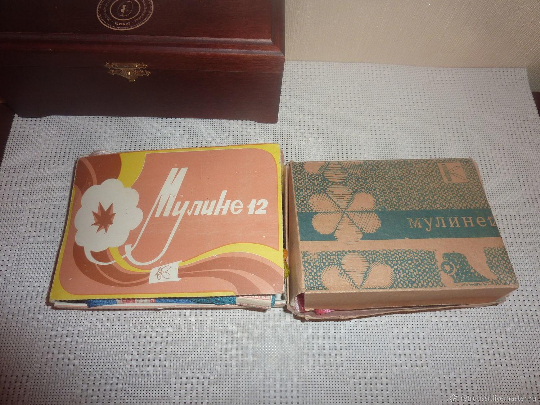 Нитки мулине х/б вышивальные винтаж СССР, Нитки, Санкт-Петербург,  Фото №1