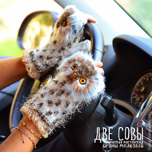 Owl mitts (Out of stock!!!), Mitts, Moscow,  Фото №1
