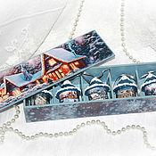 """Подарки к праздникам ручной работы. Ярмарка Мастеров - ручная работа Елочные игрушки """"Зиминие домики"""". Handmade."""
