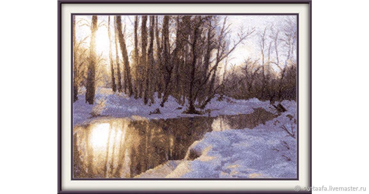 Зимний закат, Картины, Кронштадт,  Фото №1