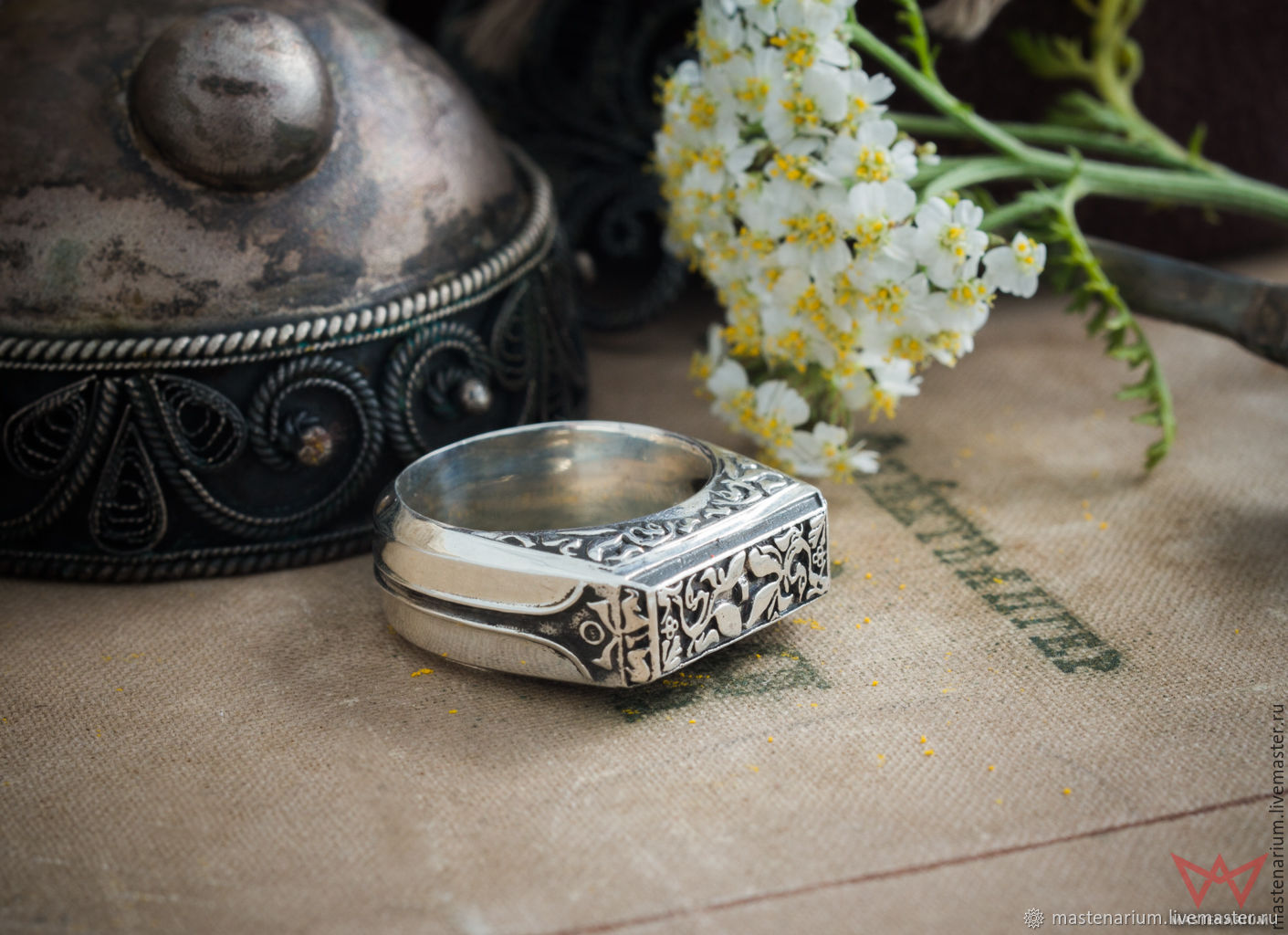 Ring of the knight Slayer. Dark Souls.  Dark soul. bronze silver, Rings, Moscow,  Фото №1