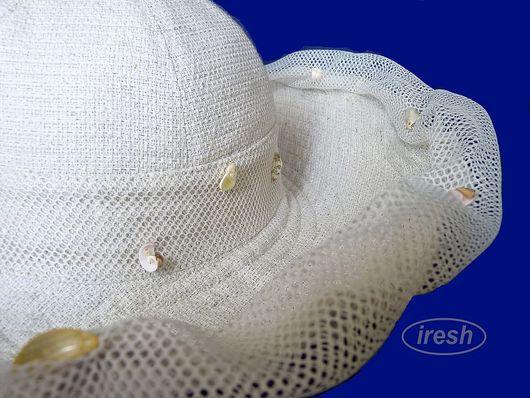 """Шляпы ручной работы. Ярмарка Мастеров - ручная работа. Купить Шляпа """"Рыбачка"""". Handmade. Летняя шляпа, шляпа молочного цвета"""