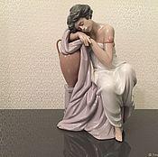 Предметы интерьера винтажные ручной работы. Ярмарка Мастеров - ручная работа LLADRO фарфоровая статуэтка 6313 В мечтах. Handmade.