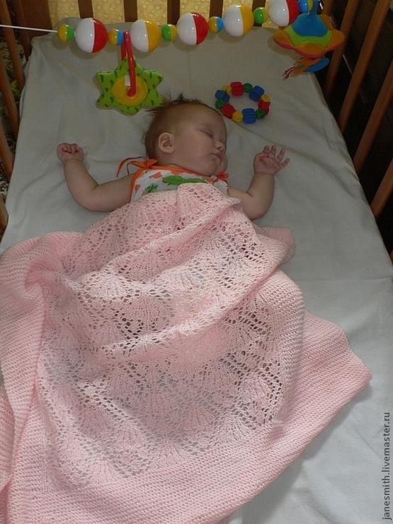 вязаное одеяло розовое чудо купить в интернет магазине на ярмарке