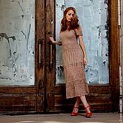 """Одежда ручной работы. Ярмарка Мастеров - ручная работа Вязаное платье """"Ginger"""". Handmade."""