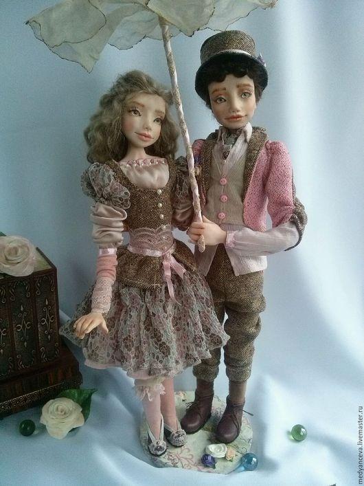 Коллекционные куклы ручной работы. Ярмарка Мастеров - ручная работа. Купить Влюбленная пара. Handmade. Запекаемый пластик, влюбленная пара